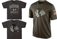 cotton polyester shirts - NHL Blackhawks T Shirts cheap Hockey jerseys Tshirts Chicago Salute To Service Camo Stack Rink Warrior Tri Blend