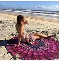 Wholesale Round Summer Large beach towels cm European style the new summer beach towel cape women Printed Round Beach Towel DHL freeship