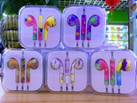 Wholesale Headphone In Ear Earphone with Mic and Remote Stereo mm colours Headset for Iphone S S plus OM F1