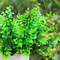 artificial money plant - Artificial Plastic Plants Money Eucalyptus Leaves cm Simulation Auspicious Flowers Green Grass Display Against True Flowers with Leaf