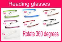 Wholesale 50pcs Men reading glasses women general presbyopic glasses Fold the elderly optical lens Rotate degrees Hd resin