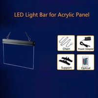 acrylic signboard - LED Light Bar Colors for Acrylic Light Billboard Signboard with Chain Table Supports Brand new