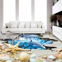 Wholesale Starfish Bedroom - Modern 3D self-adhesive starfish floor painting seamless for bedroom Restaurant Restaurant WC Hotel shopping bag mail, send