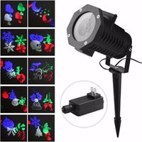 Wholesale Outdoor Snowflake Lights Waterproof LED Projection Lamp Auto Moving Spotlights with PCSSwitchable Pattern Cards for Christmas
