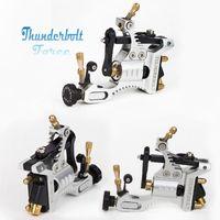 aluminum motors - Top Design Swiss Motor Tattoo Machine Silver Black Thunderbolt Force Rotary Tattoo Machine for Tattoo Body Art