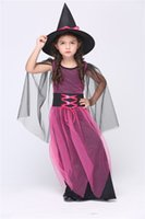 Wholesale Children Costumes Witch Hot Dancewear Cosplay Dress Product includes Hat and Dress Best Quality Lovely Girl