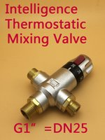 Wholesale BSP Brass G1 quot thermostatic mixing valve DN25 thermostatic valve mixer automatic mixing valve