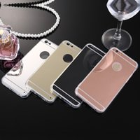 Wholesale Luxury Mirror Soft Clear TPU Case For iPhone Plus S Back Cover Phone Case