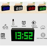 alarm clock outlet - clock clock CH KOSDA Factory Outlet Large Big Digits Plastic Multifunction LED Alarm Clock Digital LED Clock Calendar Snooze Temperature New
