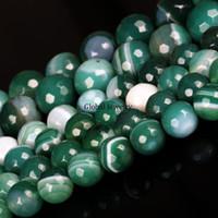 Naturales cuentas de ónix verde cuentas de joyas de ágata facetada original estilo tradicional hecha a mano material de collar pulsera