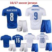 Cheap 2016 17 Italy kits soccer Jersey 2016 PIRLO El Shaarawy Balotelli Verratti MARCHISIO national team football shirts Free shipping