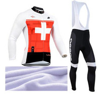 Wholesale Online assos Bike Cycling Jersey Thermal Fleece Ropa Ciclismo Long Sleeve Road Cycling Clothing Riding bicycle Clothes Bib Pants