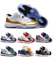 b guns - Sale Retro Navy Blue Gun Low Basketball Shoes GS Space Jam Ceremony PE Retro XI Concord Sport Trainers Shoes