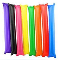 Wholesale 50 Pairs Mix Color Thunder Cheer Sticks blow Bar cheering Stick stuffed Club cheer Refueling Clappers inflatable Noisemakers Stick