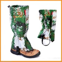 Wholesale AOTU New Outdoor Camouflage Water resistant Gaiters Leg Protect Guard Skiing Hiking Camping Climbing Protect Equipment Accessory