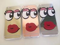 big notes - Mirror D Big Eyes Lip Soft TPU Case Cute Cartoon For Iphone S Plus I6S Samsung Galaxy S7 S6 EDGE PLUS NOTE NOTE5 skin Luxury
