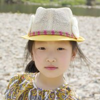 arale hat - Spring and summer children s hat Arale wings patch hat small hat jazz hat