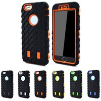 armor types - 5S Silicone Hard Plastic Case Tire Type Heavy Duty Dual Layer in Armor Hybrid Defender Plastic Cover For iphone G S