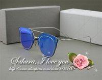 aluminum composit - New Summer CD Composit Sunglasses Steampunk Fashion Retro Sun glasses Oculos De Sol CD flat mirror coating Sunglasses Women Brand Designer
