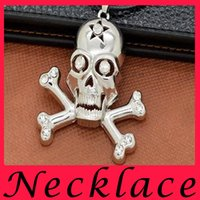 acting ropes - Europe and the United States The pirates Person cranial head Metal Pendant Necklace Set Auger Personality act the role ofing is tasted