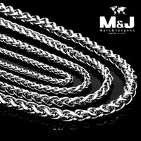 Wholesale New long vintage Spiga Plait stainless steel chain hot sale fashion jewelry mm Width Silver Color inch STN