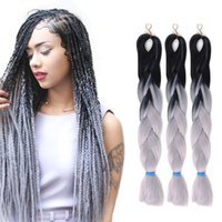 Wholesale 24 quot Jumbo Braiding Hair Ombre Braiding Hair Synthetic Braiding Hair Kanekalon Synthetic Braiding Hair