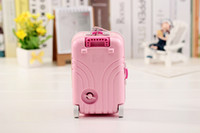 Wholesale music box trolley suitcase girl rotating music box music box creative fashion exquisite travel luggage