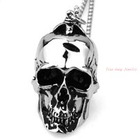 best designers polish - Cool Designer Polished Skull Pendant Ghost L Stainless Steel Gothic Silver Pendant Necklace Chain Best Gift