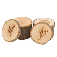 Wholesale 1 Set of Mr Mrs Vintage Shabby Chic Rustic Wedding Ring Pillow Bearer Holder Box Wooden