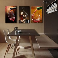 art framing glass - Espritte Art Large Red Wine Glasses Picture Painting on Canvas Print without Framed Modern Home Decorations Wall Art Canvas Oil Paintings