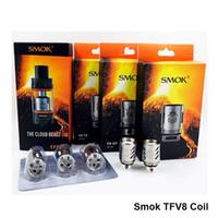 Wholesale Brosvapor Original Smok TFV8 Coil V8 T8 ohm V8 T6 ohm V8 Q4 ohm Replacement Coils For TFV8