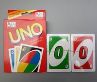 Wholesale UNO Poker Cards Standard Edition Family Fun Entermainment Board Game Playing Card Games