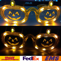 Wholesale LED Pumpkin Glasses Halloween Flashing Glasses Fashion Party Glow Halloween Glasses Christmas XMAS Toys WX C31