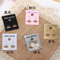 Wholesale Search English earrings black earrings card card card package Size is cm x cm