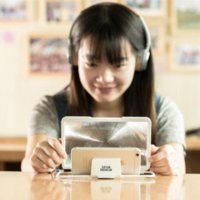 Efecto Remax pantalla del teléfono móvil lupa 3D para todos lupa marcas de teléfonos cabeza lupa barata de la alta calidad con la luz 10x