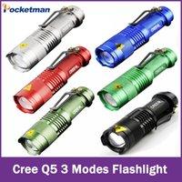 Wholesale CREE flashlight tactical Q5 powerful led torch mini lanterna