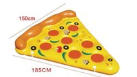 bath summer ball - Giant Inflatable Flamingo Pizza Pool Floats Summer Swimming Party Ring Adult Children Fun Water Toy Kickboard