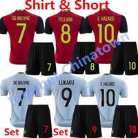 bay kid - 2016 Belgium Kids Soccer Jersey Eden Hazard Bays Maillot de Foot De Bruyne Child camisas de futbol Kompany Lukaku Benteke Home Kids Shirts