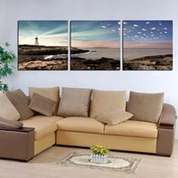beijing painting - 3 Canvas Prints Abstract tree the Great Wall flower Wooden pier sea reef lighthouse Paper Plane Beijing Forbidden City Cartoon lovers