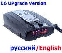 Wholesale Car radar detector E6 car detector Russian English with LED display Anti radar for Car Speed Limited
