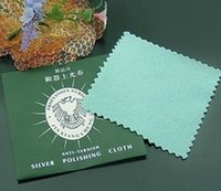 Wholesale Jewelry Cleaner Anti tarhish silver polishing cloth cm cm size separate package Very hign quality and