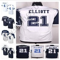Wholesale 2016 NEW Dak Prescott Cowboys Ezekiel Elliott blue white Thanksgiving Day Stitched Elite Football Jerseys
