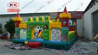 animal outdoor playground - Kid Outdoor party inflatable fun city inflatable playground bouncer toys