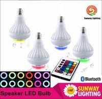 ac speakers - New arrive W E27 RGBW Smart phone control Bluetooth Led Speaker Light LED Bulb Lamp Spotlight AC V