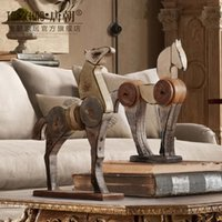 antique wood horse - Home Office Decoration horse retro soft mounted horse Crafts Arts and Crafts