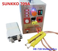 Wholesale 1 KW SUNKKO A Spot Welder with HB B Welding pen Soldering Iron Station Spot Welding Machine for battery pack