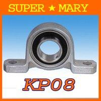 Wholesale 6pcs high precision mm Diameter zinc alloy bearing with pillow block Housings KP08
