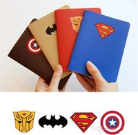 Wholesale Superhero notepad Notes superman batman Captain America transformers students Office School Supplies heros avengers cartoon theme party gift