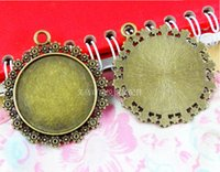antique china stamps - A3405 MM Fit MM Round metal stamping pendant blanks antique bronze cameo base China vintage tibetan cabochon setting bezel tray