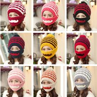beard hat pattern - Women Winter Knitting Hats High Quality Hat With Handmade Beard Moustache Pattern Hats Colorful Crochet Hats Colors